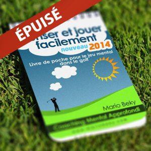Livre de poche pour le jeu mental dans le golf Coaching mental approfondi epuise Mario Beky
