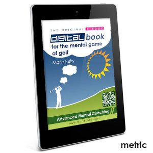E-book Digital Book for the mental game of golf Metric version