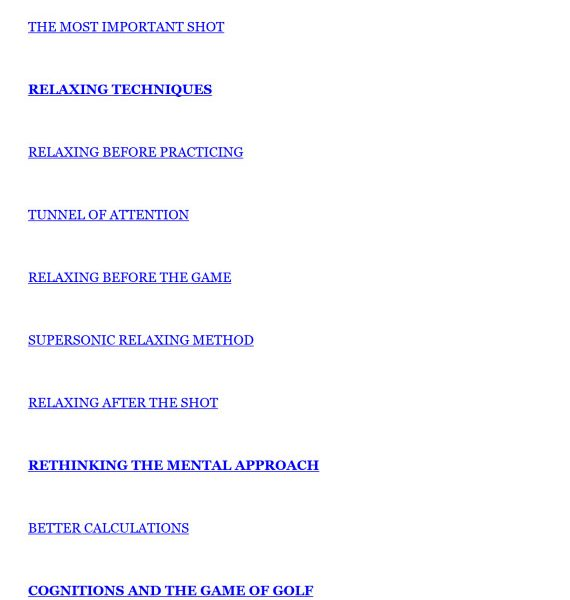 Pocketbook for the mental game of golf Professional edition Kindle 4