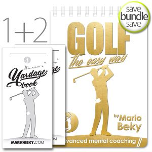 Mario Beky Golf The Easy Way Professional Yardage Book Advanced Mental Coaching Slim