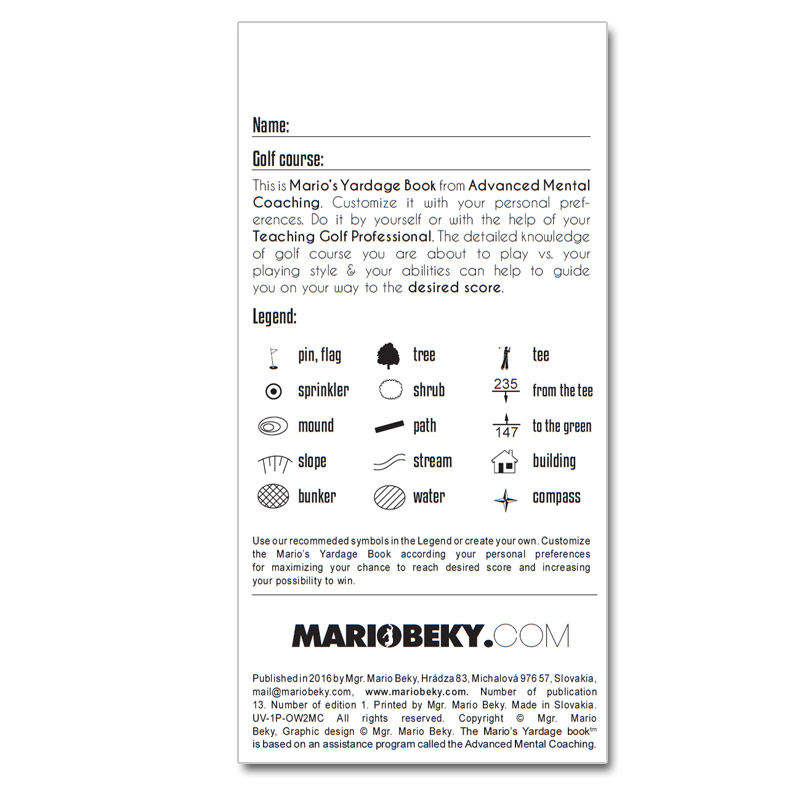 Marios yardage book mariobeky mario beky golf the easy way professional yardage book advanced mental coaching slim solutioingenieria Gallery
