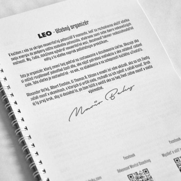 LEO Ucebny organizer Mario Beky Advanced Mental Coaching Pokrocily vnutorny trening 1