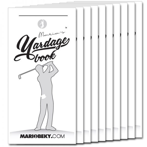 Mario Beky Golf The Easy Way Professional Yardage Book Advanced Mental Coaching Slim