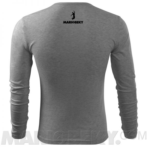 Long sleeve Tshirt dark gray 4 mariobeky Victory