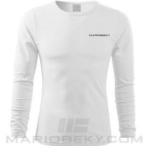 Longsleeve t-shirt Mario Beky One White