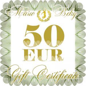 50 eur gift certificate mariobeky G