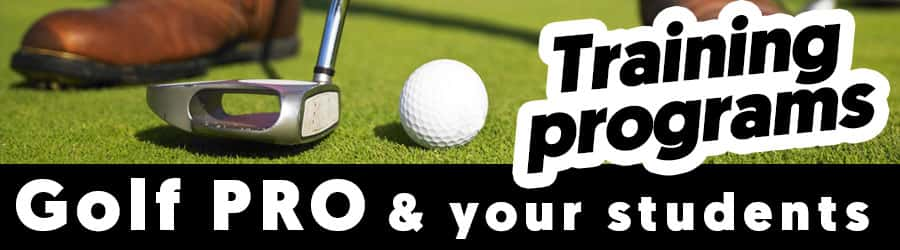 Training programs for teaching golf professionals and golfing students