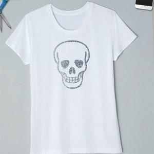 Silver skull tshirt