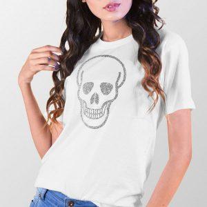 Tshirt Silver Skull Mario Beky