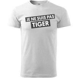 Je ne suis pas Tiger Golf T-shirt Blanc Homme