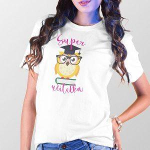 Tričko Super učiteľka sovička