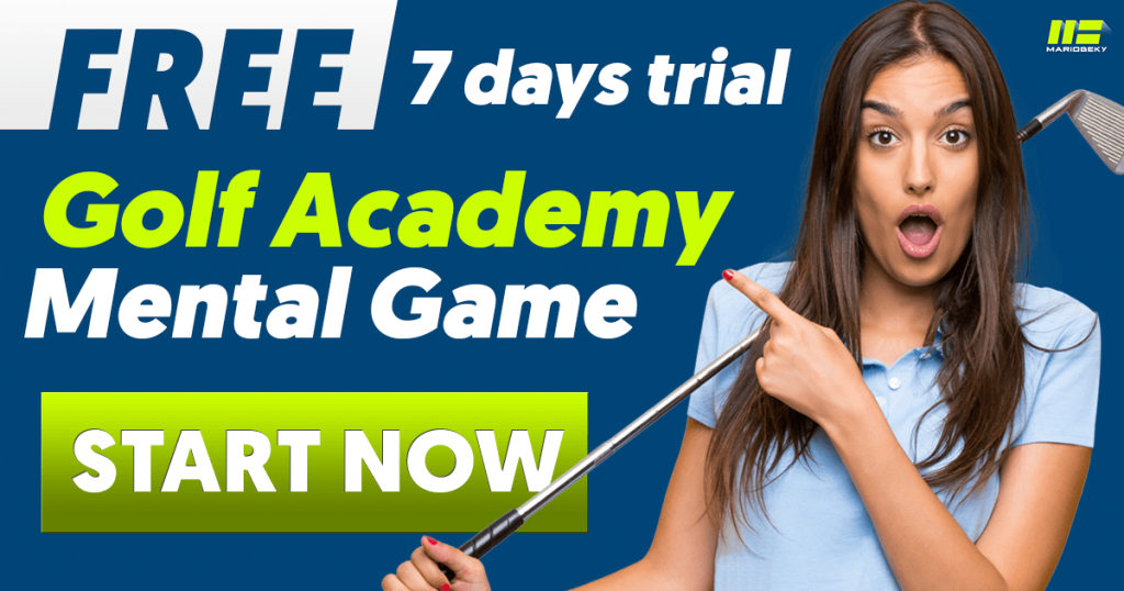Free 7 days trial golf academy for mental game